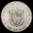London Coins : A170 : Lot 847 : Panama 150 Balboas 1976 150th Anniversary of the Panamanian Congress, KM#43, 9.3 grammes of .999 Pla...
