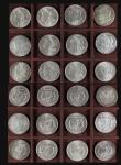 London Coins : A171 : Lot 1078 : USA Dollars (24) 1879, 1881S, 1882O, 1883, 1884, 1885 (2), 1885O, 1886 (2), 1887, 1889 (3), 1891S, 1...