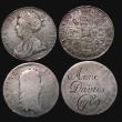 London Coins : A171 : Lot 1106 : Crowns (3) each inscribed as love tokens 1662 Rose below bust Poor, inscribed 'Anne Davies 1789...