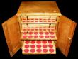 London Coins : A171 : Lot 1169 : Coin Cabinet Professionally made, by Rob Davis, Swadlincote, 28 trays, with all felts, lockable with...
