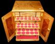 London Coins : A171 : Lot 1170 : Coin Cabinet Professionally made, by Rob Davis, Swadlincote, 29 trays, with all felts, lockable with...