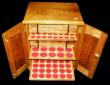 London Coins : A171 : Lot 1171 : Coin Cabinet Professionally made, by Rob Davis, Swadlincote, 29 trays, with all felts, lockable with...