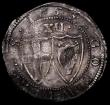 London Coins : A171 : Lot 1251 : Shilling 1653 Commonwealth ESC 987, Bull 124 a few small striking and small edge cracks, overall a v...