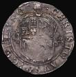 London Coins : A171 : Lot 1252 : Shilling Charles I Group D, Fourth Bust, type 3.1, Reverse: Oval garnished shield with CR at sides S...