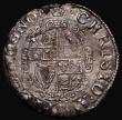 London Coins : A171 : Lot 1253 : Shilling Charles I Group D, Fourth Bust, type 3a, No inner circles, Reverse: Round garnished shield ...