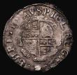 London Coins : A171 : Lot 1256 : Shilling Charles I Group D, Fourth Bust, type 3a, No inner circles, Reverse: Round garnished shield ...