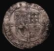 London Coins : A171 : Lot 1257 : Shilling Charles I Group E, Fifth Aberystwyth Bust, type 4.1var, larger bust with rounded shoulder, ...