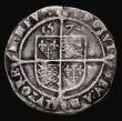 London Coins : A171 : Lot 1274 : Sixpence Elizabeth I 1574 double struck 7 in date, S.2562 mintmark Acorn, 2.87 grammes, VG/approachi...