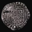 London Coins : A171 : Lot 1281 : Sixpence James I 1603 First Coinage, Second Bust, S.2648 mintmark Thistle, 2.67 grammes, VG/Fine wit...
