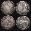 London Coins : A171 : Lot 1289 : Sixpences Elizabeth I (5) 1570 S.2562 mintmark Coronet, 2.97 grammes, Obverse Fine or better for wea...
