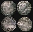 London Coins : A171 : Lot 1290 : Sixpences Elizabeth I (5) 1581 Fifth Issue S.2572 mintmark Latin Cross, 2.70 grammes, VG/Near Fine. ...