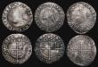 London Coins : A171 : Lot 1294 : Sixpences Elizabeth I (6) 1587 Sixth Issue S.2578A mintmark Crescent, 2.47 grammes, Poor/VG. 1589 Si...