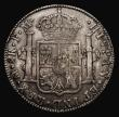 London Coins : A171 : Lot 1341 : Dollar George III Oval Countermark on a Mexico 8 Reales 1788 Mo FM ESC 129, Bull 1852 Countermark Go...