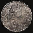 London Coins : A171 : Lot 1343 : Dollar George III Oval Countermark on a Mexico 8 Reales 1795 FM Mo ESC 129, Bull 1852 Countermark NE...