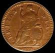 London Coins : A171 : Lot 1346 : Farthing 1675 5 over 3 AU with traces of lustre reverse and graded 75 by CGS rare, this being the on...