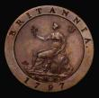 London Coins : A171 : Lot 1351 : Farthing 1797 Copper Pattern Restrike, Obverse: The lowest berry has no stalk, and the leaf veins ar...