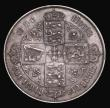 London Coins : A171 : Lot 1380 : Florin 1867 ESC 830, Bull 2860, Davies 745, dies 2A, Die Number 1, NVF/About VF and scarce. Our arch...