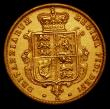 London Coins : A171 : Lot 1467 : Half Sovereign 1871 No Dot on Shield, S.3860A, Marsh 446A, Die Number 10, VF, Ex-Jewellery, with no ...