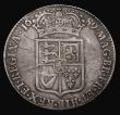 London Coins : A171 : Lot 1509 : Halfcrown 1689 First Shield, Caul only frosted, with pearls, ESC 505, Bull 831 Near Fine with some o...