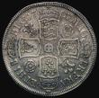London Coins : A171 : Lot 1520 : Halfcrown 1707 Roses and Plumes, SEXTO edge ESC 573, Bull 1362 About Fine/Fine with some light scatt...