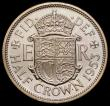 London Coins : A171 : Lot 1552 : Halfcrown 1953 Proof, Obverse 1 Reverse A. The Very Rare Obverse 1 Proof with the weakly struck firs...