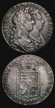 London Coins : A171 : Lot 1553 : Halfcrowns (2) 1676 ESC 478, Bull 471 VG/Fine with a little uneven tone and traces of a little old g...