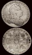London Coins : A171 : Lot 1555 : Halfcrowns (2) 1715 and 1745 LIMA both ex-mount and both with traces of brown/gold residue in the fi...
