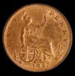 London Coins : A171 : Lot 1581 : Halfpenny 1887 Freeman 358 Unc with much lustre and graded 82 by LCGS