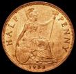 London Coins : A171 : Lot 1585 : Halfpenny 1933 Freeman 420 dies 3+B UNC with around 75% lustre, the obverse with minor cabinet frict...