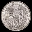 London Coins : A171 : Lot 1640 : Shilling 1894 Small Obverse Letters, Bull 3157, Davies 1013, dies 1B, Obverse: I of DEI point to a s...