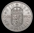 London Coins : A171 : Lot 1654 : Shilling 1959 Scottish ESC 1475Z, Bull 4502 UNC in an LCGS holder and graded LCGS 82, the key date i...