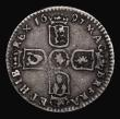 London Coins : A171 : Lot 1669 : Sixpence 1697E First Bust, Later Harp, Small Crowns, with Small 7 in date, Bull 1283, type as ESC 15...