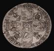 London Coins : A171 : Lot 1684 : Sixpence 1736 Roses and Plumes ESC 1611, Bull 1747, Fine or better with an edge crack at 9 o'cl...