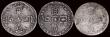 London Coins : A171 : Lot 1747 : Sixpences (3) 1696 First Bust, Early Harp, Large Crowns, Good Fine/Fine on a porous flam, 1697B Firs...