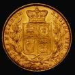 London Coins : A171 : Lot 1853 : Sovereign 1863 No Die Number Marsh 46 GEF and lustrous desirable thus