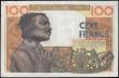 London Coins : A171 : Lot 238 : West African States - Benin (Dahomey) 100 Francs Pick 201Be dated 2nd March 1965 series J.225 B 1660...