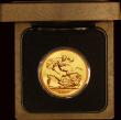 London Coins : A171 : Lot 295 : Five Pounds Gold 1988U S.SE5 Lustrous UNC in the Royal Mint box of issue with certificate
