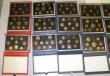 London Coins : A171 : Lot 362 : Proof Sets (20) Red Leather Deluxe Sets (3) 1985, 1986, 1995, Blue Sets (14), 1984, 1985, 1987, 1988...