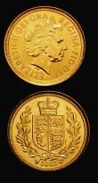 London Coins : A171 : Lot 381 : Sovereign 2002 Marsh 316 Lustrous UNC, Half Sovereign Marsh 549 Lustrous UNC both in red presentatio...