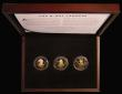 London Coins : A171 : Lot 486 : Isle of Man Two Pounds 2019 a 3-coin set in Gold comprising Two Pounds 2019 Sir Winston Churchill, 2...