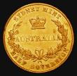 London Coins : A171 : Lot 532 : Australia Half Sovereign 1857 Sydney Branch Mint, Marsh 382 GVF/NEF with some hairlines, the reverse...