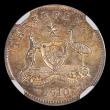 London Coins : A171 : Lot 540 : Australia Threepence 1910 NGC MS64 a choice piece with a beautiful tone