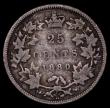 London Coins : A171 : Lot 554 : Canada 25 Cents 1880H Narrow 0 in date KM#5 VG with all major details clear