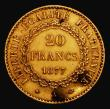 London Coins : A171 : Lot 584 : France 20 Francs Gold 1877A Paris Mint KM#825 GVF/NEF lightly cleaned, with dark  spots