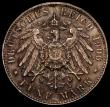 London Coins : A171 : Lot 593 : German States - Bremen 5 Marks 1906 J KM#251 EF and attractively toned, Rare with a low mintage of 4...