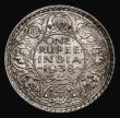 London Coins : A171 : Lot 634 : India Rupee 1938 Bombay Mint, with Dot, KM#555 EF/GEF and lustrous