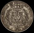 London Coins : A171 : Lot 654 : Italian States - Sardinia 5 Lire 1828 A.LAVY/P Genoa Mint KM#116.2 the edge appears to have been exp...