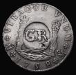 London Coins : A171 : Lot 658 : Jamaica Six Shillings and Eightpence GR countermark, undated (1758) on Mexico City 8 Reales host coi...
