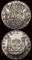 London Coins : A171 : Lot 667 : Mexico 8 Reales (2) 1737 Mo MF KM#103, Good Fine, 1741 Mo MF KM#103, Good Fine/Fine with some surfac...