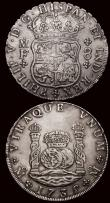London Coins : A171 : Lot 670 : Mexico 8 Reales 1735 Mo MF KM#103, Good Fine/Near VF, Guatemala 8 Reales 1792 NG M KM#53 Fine/Good F...